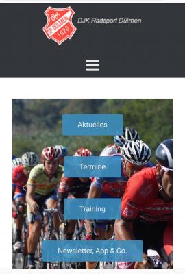 Startseite der neuen Homepage - mobile Darstellung