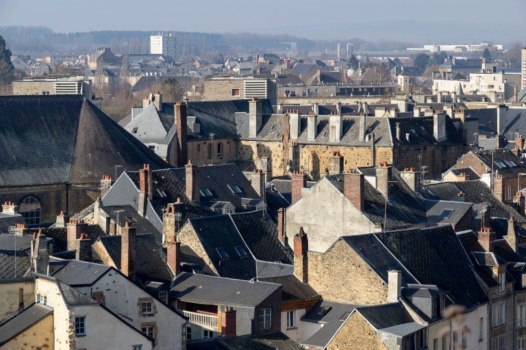 Dächer, Sedan, Frankreich